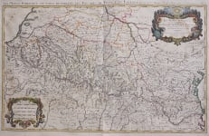 PYRENEES LES MONTS PYRENEES  WALL MAP