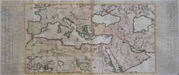 LARGE WALL MAP PF THE OTTOMAN TURKISH EMPIRE