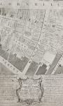 RARE PLAN OF CORNHILL LONDON AFTER 1748 FIRE JEFFREYS  PAYNE