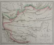 UNCOMMON MAP OF TIBET MONGOLIA REGION