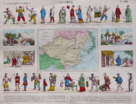 EPINAL  CHINA MAP WITH CHINESE FIGURES