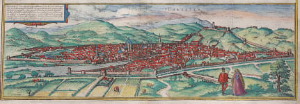BRAUN & HOGENBERG'S PANORAMA OF FLORENCE