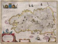 HONDIUS JANSSONIUS  MAP OF BRITTANY