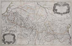 THE PYRENEES   LARGE WALL MAP