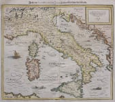 EARLY ITALY MAP BY MUNSTER
