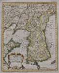 BELLIN'S RARE MAP OF KOREA