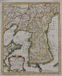 BELLIN'S RARE MAP OF KOREA
