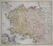 HOMANN'S MAP OF BRITTANY