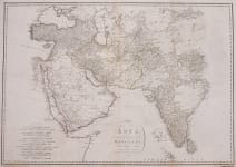 ARABIA   PERSIA  INDIA  TRADE  LARGE MAP