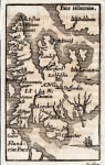 RARE BUCELIN MAP OF ENGLAND