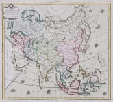 ASIA DECORATIVE MAP  BY DESNOS