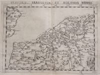 RUSCELLI'S EARLY MAP OF THE LOW COUNTRIES