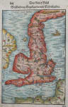 MUNSTER'S PTOLOMAIC MAP THE BRITISH ISLES