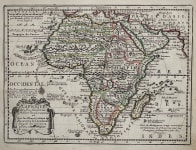 CHIQUET'S DETAILED MAP OF AFRICA