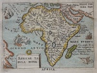 AFRICA SMALL MAP BY ORTELIUS MARCHETTI