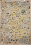 EXTRA LARGE POSTER OF SCOTLAND  CLANS MAP