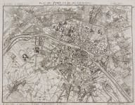 LEROUGE'S  FINELY ENGRAVED MAP OF PARIS