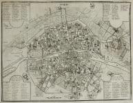 PLAN OF PARIS  BY SCROTIN AFTER DE FER