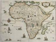 MERIAN'S DECORATIVE MAP OF AFRICA