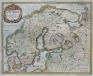 MERIAN'S MAP OF SCANDINAVIA