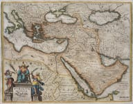 MERIAN'S MAP OF THE TURKISH EMPIRE 1640