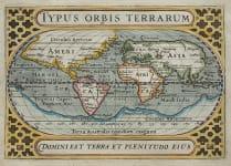 BERTIUS ANTIQUE MAP OF THE WORLD