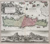 SEUTTER'S STUNNING MAP OF CRETE