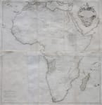 ANVILLE'S IMPRESSIVE LARGE WALL MAP OF AFRICA