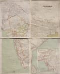 LARGE WALL  MAP OF INDIA  BY FLEMMING