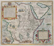 ORTELIUS  MAP OF THE LAND OF PRESTER JOHN