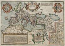 ORTELIUS MAP OF THE ROMAN EMPIRE