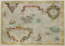 ORTELIUS STUNNING MAP OF THE AZORES