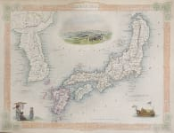TALLIS MAP OF JAPAN & KOREA