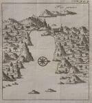 RENNEVILLE'S RARE MAP OF RIO DE JANEIRO