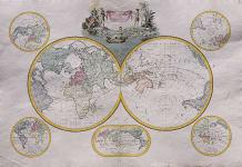 LAPIE'S HEMISPHERES MAP