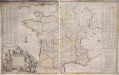 MOLL'S RARE WALL MAP OF FRANCE