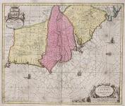 RARE MAP WEST AFRICA  GAMBIA  SIERRA LEONE  BY SHENCK & VALK
