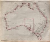 1848 MAP OF AUSTRALIA