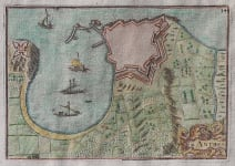 TASSIN'S MAP OF ANTIBES   FIRST AVAILABLE MAP OF ANTIBES
