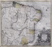 SEUTTER'S MAP OF BRAZIL