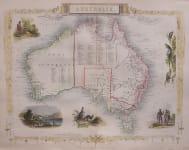 TALLIS  SOUGHT AFTER MAP OF AUSTRALIA
