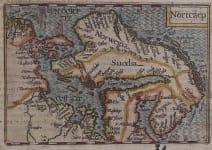 LANGENES RARE MAP OF SCANDINAVIA