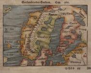 MUNSTER'S PTOLMAIC MAP OF SCANDINAVIA