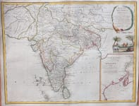 BOUDET  VAUGONDY MAP OF INDIA  CALCUTTA INSET