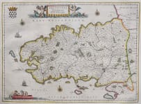 BLAEU'S MAP OF BRITTANY