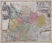 HOMANN'S ATTRACTIVE MAP OF AQUITAINE