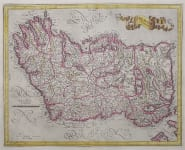 MERCATOR'S FOLIO MAP OF IRELAND  ORIGINAL COLOUR