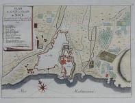 RARE PLAN OF NICE FRANCE 1690