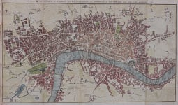 GOOD 1767 MAP OF LONDON