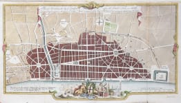 PLAN OF LONDON AFTER THE FIRE  1766